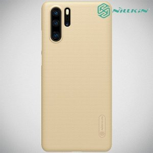NILLKIN Super Frosted Shield Клип кейс накладка для Huawei P30 Pro - Золотой