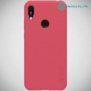 NILLKIN Super Frosted Shield Клип кейс накладка для Huawei Y6 2019 / Y6s - Красный