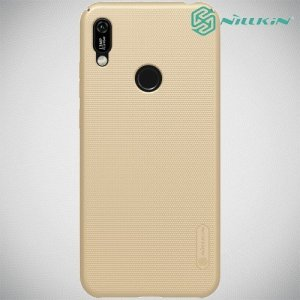 NILLKIN Super Frosted Shield Клип кейс накладка для Huawei Y6 2019 / Y6s - Золотой
