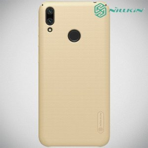 NILLKIN Super Frosted Shield Клип кейс накладка для Huawei Y7 / Y7 Pro 2019 - Золотой