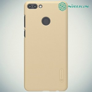 NILLKIN Super Frosted Shield Клип кейс накладка для Huawei Y9 2018 - Золотой