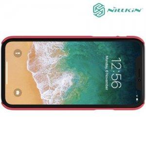 NILLKIN Super Frosted Shield Клип кейс накладка для iPhone XR - Красный