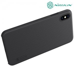 NILLKIN Super Frosted Shield Клип кейс накладка для iPhone Xs Max - Черный