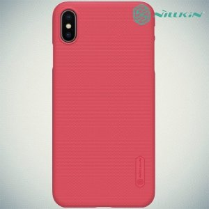 NILLKIN Super Frosted Shield Клип кейс накладка для iPhone Xs Max - Красный