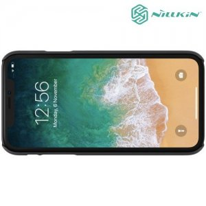 NILLKIN Super Frosted Shield Клип кейс накладка для iPhone XR - Черный