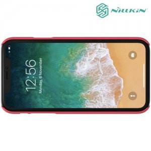 NILLKIN Super Frosted Shield Клип кейс накладка для iPhone XR - Красный