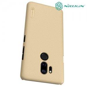 NILLKIN Super Frosted Shield Клип кейс накладка для LG G7 ThinQ - Золотой