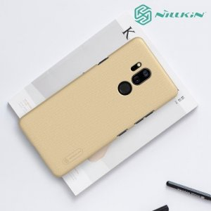 NILLKIN Super Frosted Shield Клип кейс накладка для LG G7 ThinQ - Золотой