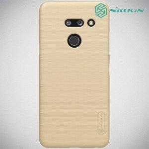 NILLKIN Super Frosted Shield Клип кейс накладка для LG G8 ThinQ - Золотой