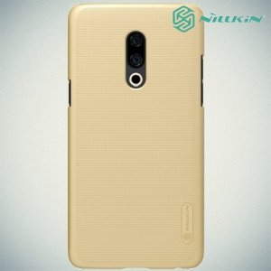 NILLKIN Super Frosted Shield Клип кейс накладка для Meizu 15 Plus - Золотой