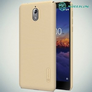 NILLKIN Super Frosted Shield Клип кейс накладка для Nokia 3.1 2018 - Золотой