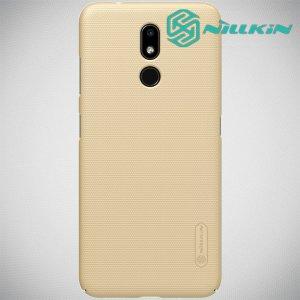 NILLKIN Super Frosted Shield Клип кейс накладка для Nokia 3.2 - Золотой