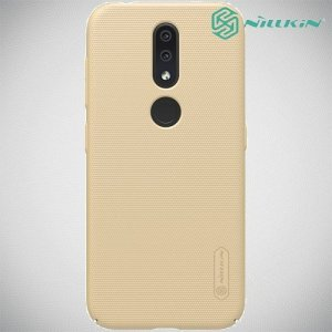 NILLKIN Super Frosted Shield Клип кейс накладка для Nokia 4.2 - Золотой