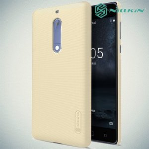 NILLKIN Super Frosted Shield Клип кейс накладка для Nokia 5 - Золотой