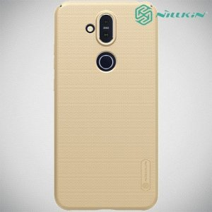 NILLKIN Super Frosted Shield Клип кейс накладка для Nokia 8.1 - Золотой