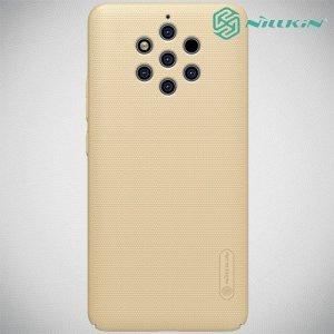 NILLKIN Super Frosted Shield Клип кейс накладка для Nokia 9 PureView - Золотой