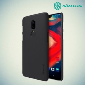 NILLKIN Super Frosted Shield Клип кейс накладка для OnePlus 6 - Черный