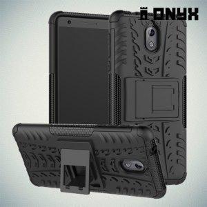 ONYX Противоударный бронированный чехол для Nokia 3.1 2018 - Черный