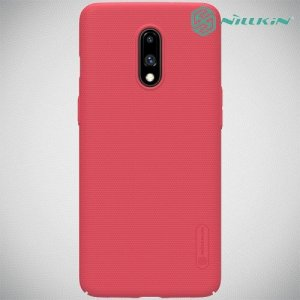NILLKIN Super Frosted Shield Клип кейс накладка для OnePlus 7 - Красный