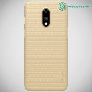 NILLKIN Super Frosted Shield Клип кейс накладка для OnePlus 7 - Золотой