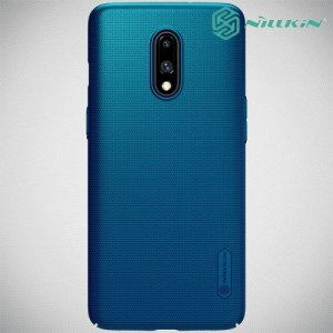 NILLKIN Super Frosted Shield Клип кейс накладка для OnePlus 7 - Синий