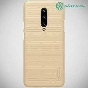 NILLKIN Super Frosted Shield Клип кейс накладка для OnePlus 7 Pro - Золотой