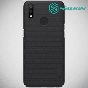 NILLKIN Super Frosted Shield Клип кейс накладка для Oppo Realme 3 Pro / X Lite - Черный