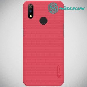 NILLKIN Super Frosted Shield Клип кейс накладка для Oppo Realme 3 Pro / X Lite - Красный