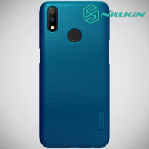 NILLKIN Super Frosted Shield Клип кейс накладка для Oppo Realme 3 Pro / X Lite - Синий