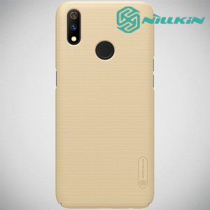 NILLKIN Super Frosted Shield Клип кейс накладка для Oppo Realme 3 Pro / X Lite - Золотой