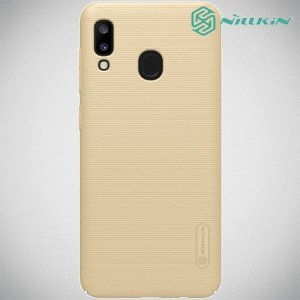 NILLKIN Super Frosted Shield Клип кейс накладка для Samsung Galaxy A30 / A20 - Золотой