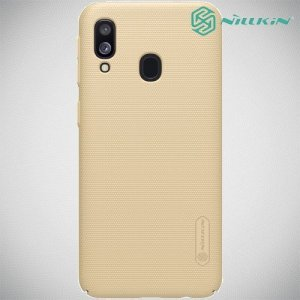 NILLKIN Super Frosted Shield Клип кейс накладка для Samsung Galaxy A40 - Золотой