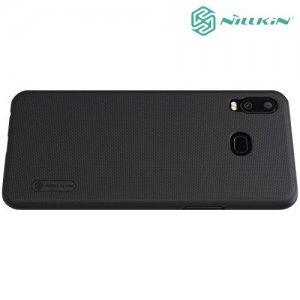 NILLKIN Super Frosted Shield Клип кейс накладка для Samsung Galaxy A6s - Черный