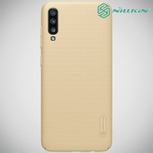 NILLKIN Super Frosted Shield Клип кейс накладка для Samsung Galaxy A70 - Золотой