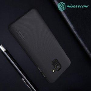NILLKIN Super Frosted Shield Клип кейс накладка для Samsung Galaxy J6 2018 SM-J600F - Черный