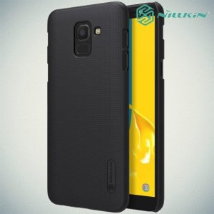 NILLKIN Super Frosted Shield Клип кейс накладка для Samsung Galaxy J6 2018 SM-J600F - Черный