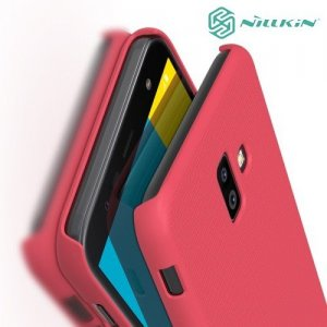 NILLKIN Super Frosted Shield Клип кейс накладка для Samsung Galaxy J6 Plus - Красный