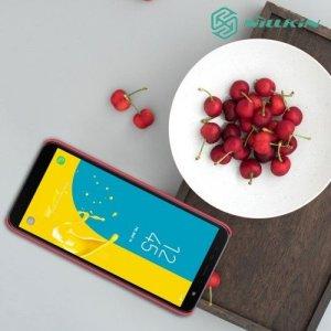 NILLKIN Super Frosted Shield Клип кейс накладка для Samsung Galaxy J6 Plus - Красный
