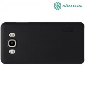 NILLKIN Super Frosted Shield Клип кейс накладка для Samsung Galaxy J7 2016 SM-J710F - Черный