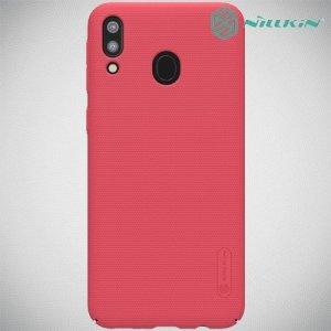 NILLKIN Super Frosted Shield Клип кейс накладка для Samsung Galaxy M20 - Красный