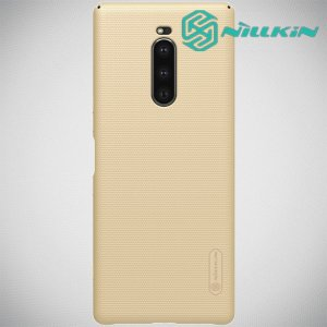 NILLKIN Super Frosted Shield Клип кейс накладка для Sony Xperia 1 - Золотой