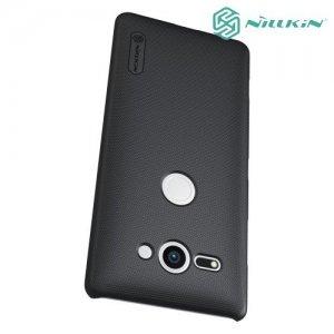 NILLKIN Super Frosted Shield Клип кейс накладка для Sony Xperia XZ2 Compact - Черный