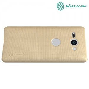 NILLKIN Super Frosted Shield Клип кейс накладка для Sony Xperia XZ2 Compact - Золотой