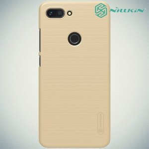 NILLKIN Super Frosted Shield Клип кейс накладка для Xiaomi Mi 8 Lite - Золотой
