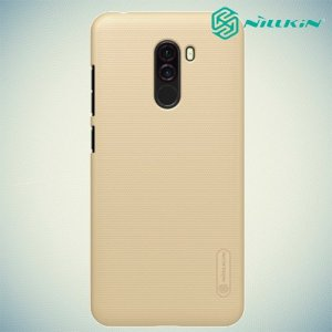 NILLKIN Super Frosted Shield Клип кейс накладка для Xiaomi Pocophone F1 - Золотой
