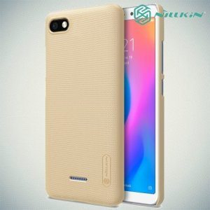 NILLKIN Super Frosted Shield Клип кейс накладка для Xiaomi Redmi 6a - Золотой