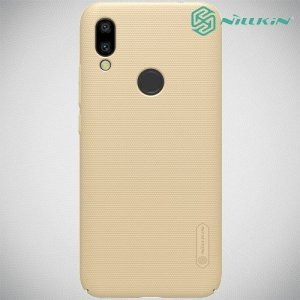 NILLKIN Super Frosted Shield Клип кейс накладка для Xiaomi Redmi 7 - Золотой