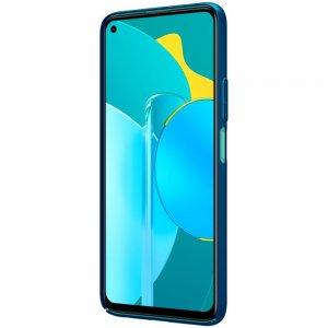 NILLKIN Super Frosted Shield Матовая Пластиковая Нескользящая Клип кейс накладка для Huawei Honor 30S - Синий