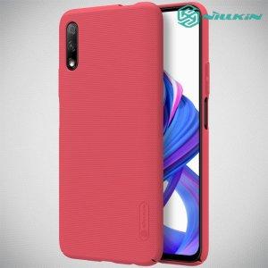 NILLKIN Super Frosted Shield Матовая Пластиковая Нескользящая Клип кейс накладка для Huawei Honor 9X / 9X Premium - Красный