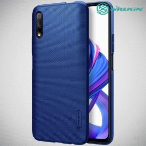 NILLKIN Super Frosted Shield Матовая Пластиковая Нескользящая Клип кейс накладка для Huawei Honor 9X / 9X Premium - Синий